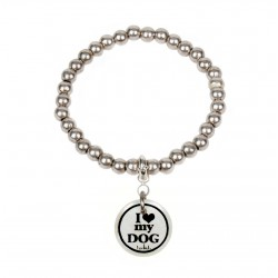 "BRACCIALE BOULES ""I LOVE MY DOG"""